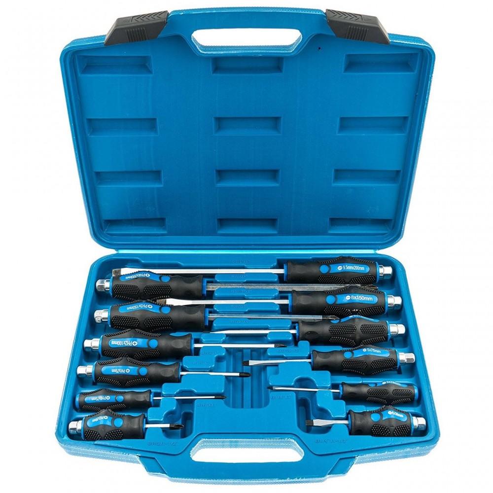 Спец набор ударных отверток 12 единиц SATRA S-S12PC