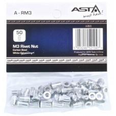 Заклепки резьбовые М3, 50 шт (AL) ASTA A-RM3