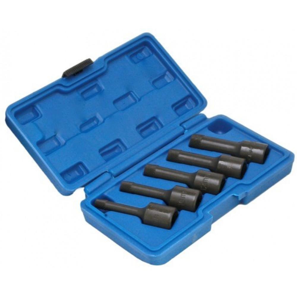Набор экстракторов для сломанных болтов (8, 10, 12, 14, 17 мм) SATRA S-1036A