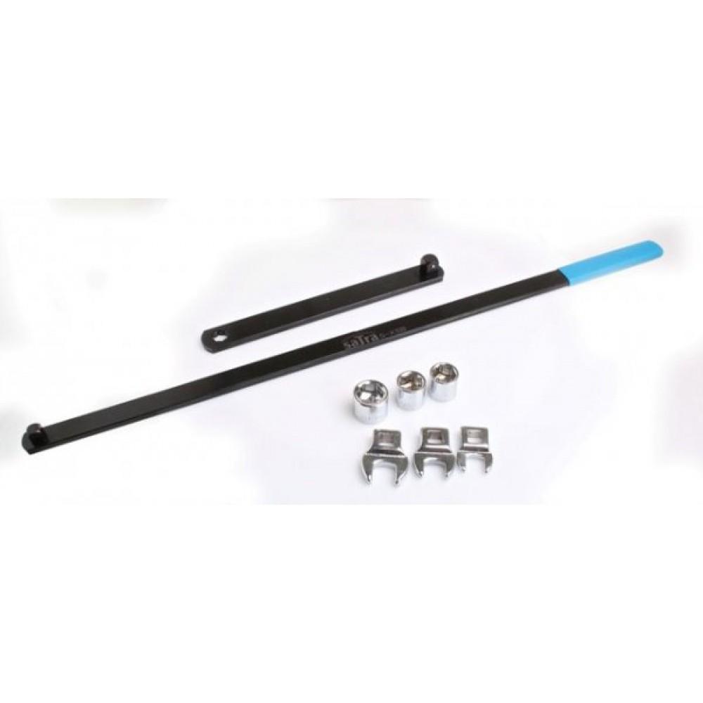 Ключ для де / монтажа поликлинового ремня с адаптерами SATRA S-XSB