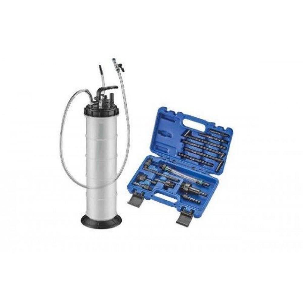 Насос для замены масла в АКПП и КПП + набор адаптеров ASTA A-13ED10L