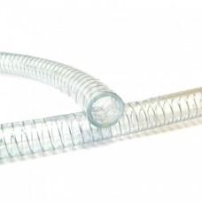 Шланг PVC прозрачный с металлической спиралью 25 мм