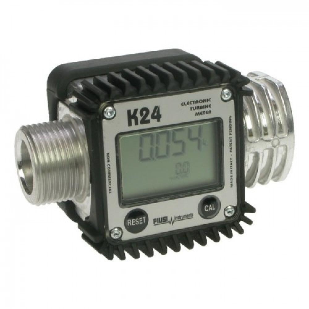 "Счетчик турбинный Piusi K24 A M/F 1"" BSP для води, ДП, масла"