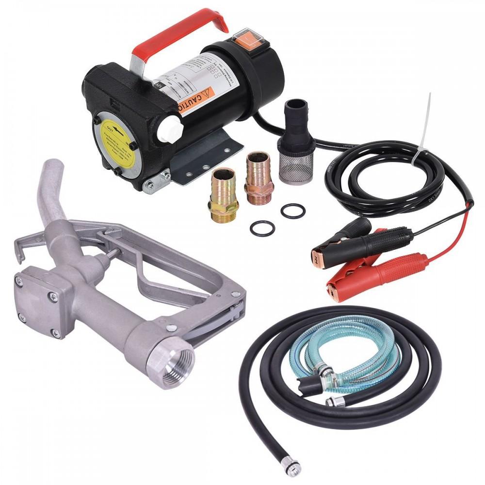 Установка для перекачки дизеля REWOLT RE SL001B-24V (насос, топливный пистолет, шланги) 24в 50л/мин